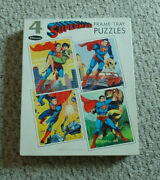1966 Whitman 4 Superman Frame-tray Puzzles Excellent Condition Htf