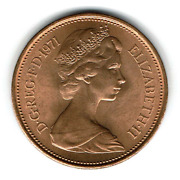 Mint Simply Rare 2 New Pence Coin From 1971 With Elizabeth Ii