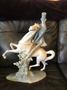Authentic And Very Rare Lladro - Man On Horse