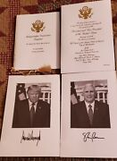 Official President Trump 2017 Inauguration Invite And Program And Pictures.