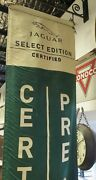 .a Pair Of Vintage Hanging Jaguar Pre Owned Show Room Banners 2.4m High