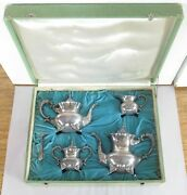 .japanese Mid Century Export Sterling Silver Five Piece Tea Coffee Set 2476 G