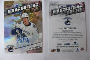 2018-19 Ud Overtime Lo-20 Elias Pettersson 2/3 Lights Out Rc Auto Rookie Hot
