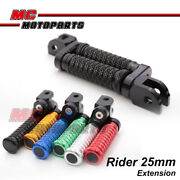 Mgrip Cnc 25mm Ajustable Front Foot Pegs Fit Sportclassic Sport 1000 06-09