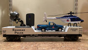 K Line Up Railroad Police Camera Car W/ Surveillance Camera Truck And Helicopter