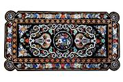 5and039x3and039 Exclusive Pattern Marble Inlay Dining Office Table Top Hand Made Bar Table