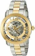 Menand039s Vintage Analog Display Automatic Self Wind Two Tone Watch 22583