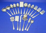 18 - International Beacon Hill Glossy Stainless Flatware Hostess Serving Pieces