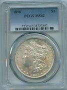 1898 P Pcgs Ms62 Morgan Silver Dollar 1 Better Date 1898-p Pcgs Ms-62 Pq Coin