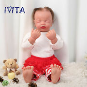 Ivita Reborn Doll Realistic Silicone Baby Doll Gift 22'' Hair Baby With Skeleton