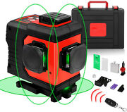 12 Lines Laser Level 3d Green Cross Line Three Plane Leveling Alignment 3x360