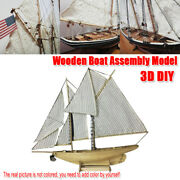 New 187 Scale Wooden Sailing Boat Model Diy Kit Ship Assembly Decoration Gift