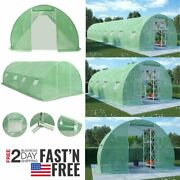 Us Greenhouse With Steel Foundation Walk-in Plant Gardening Multi Sizes