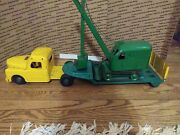 1950and039s Structo Truck Flatbed Trailer Steam Shovel