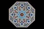 2and039 Table Top Inlay Marble Pietra Dura Antique Coffee Dining Home Decor
