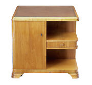 Mid 20th Century Swedish Elm Occasional Table Cabinet