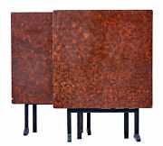 Pair Of 19th Century Swedish Ragwork Painted Square Folding Tables