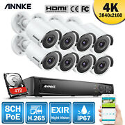 Annke Ultra Hd 4k Video 8ch Poe Nvr 8mp Security Camera System Ip Network Onvif