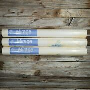 Vintage 3 Sealed Roll Pre Pasted Solid Sheet Vinyl Mirage Wallcoverings Floral
