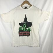 Vintage 1980s The Wizard Of Oz Witch T Shirt Very Rare Large White Movie Tee