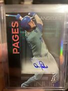 2020 Topps Platinum Andy Pages Auto