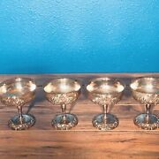 """Reed And Barton Silverplate Chalice Goblet King Francis Champagne Patina 4.5""""x4"""""""
