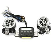 Motorcycle Bike Audio Mp3 Fm Radio Ipod Stereo Speakers Sound System For Atv Us