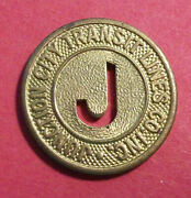 Kansas Token - Junction City Transit Lines Co. Inclot X958 Good For One Fare