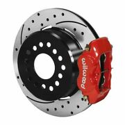Wilwood 140-7148-dr Forged Dynalite Rear Parking Brake Kit - Red Caliper New