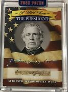 Zachary Taylor Handwritten Word From The President Potus Signed Letter Relic Cut