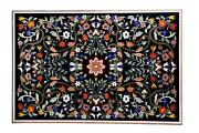 3and039x2and039 Exclusive Pattern Marble Inlay Dining Office Center Table Top Handmade
