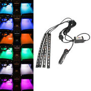 Led Rgb Multi Color Footwell Atmosphere Light Lamp Phone App Wireless Control