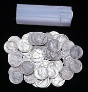 1930s Mercury Dime Roll Of 50 Coins Including Some Mintmarks Nice Quality Gc930