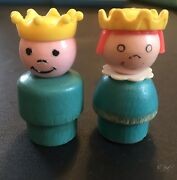 Vintage Fisher Price Little People King And Queen
