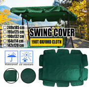 Patio Outdoor Garden Swing Oxford Cloth Canopy Replacement Porch Top Cover Seat