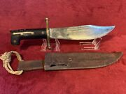 V-44 Wwii Survival Knife Ww2 Collins And Co Legitimus Bowie
