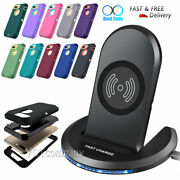For Iphone 8/8 Plus Se 2020 Case Armor Phone Cover + Wireless Charger Stand Dock