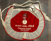1954 Cleveland Indians American League Champions World Series Apron Chief Wahoo