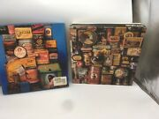 Lot Of 2 Jigsaw Puzzles 500 Vintage Cans Advertising Can Can Milton Bradley Tins