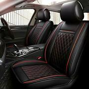 Inch Empire 2 Front Car Seat Cover-waterproof Pu Leather Cushion Anti-slip Suede