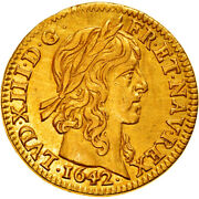 [906434] Coin France Louis Xiii 1/2 Louis Dand039or 1642 Paris Ef Gold