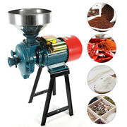 New 3000w Electric Grinder Wet Feed/flour Mill Cereals Grain Corn Oat Wheat 110v