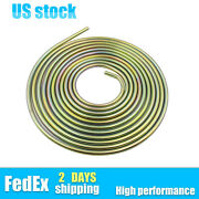 3/8 Od 25 Foot Copper-plated Brake Fuel Line Tubing Kit Coil Roll