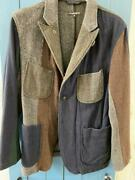 Engineered Garments Patchwork Jacket Blouson Gray Blue Green Men's S From Japan