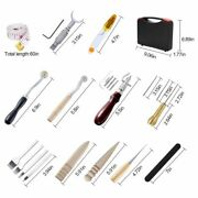 Sewing Leather Crafts Working Tool Box Kit Swivel Knife Prong Punch Sets 50 Pcs