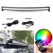 50 Rgb 5d Led Curved Light Bar Combo And Bluetooth Control Kit For Truck Suv 4x4