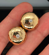 And Co 18k Vintage Old Miner Diamond Buttons / Cufflinks Rare