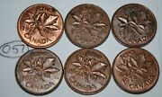 Canada 1974 X 6 1 Cent Copper One Canadian Pennies Coins Lot O57