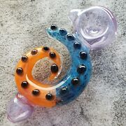 4.5 Tentacles Glass Pipe Tobacco Smoking Collectible Hand Blown