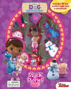 Disney Doc Mcstuffins Stuck On Stories W/ 10 Toys And Storybook - Brand New